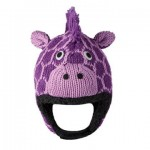 Purple Giraffe infant czapka żyrafa